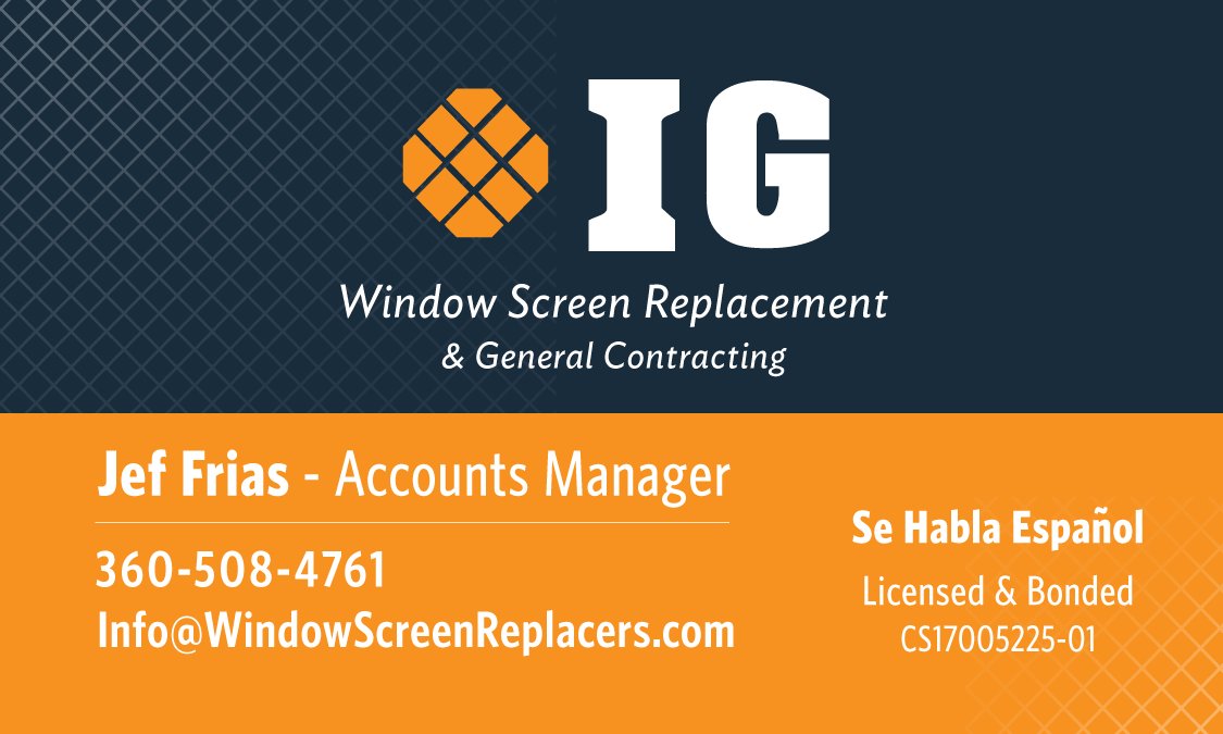 IG business card portfolio